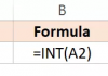 Hàm INT trong Excel